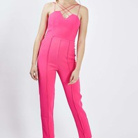 **Multi Cross Strap Tailored Playsuit by Rare