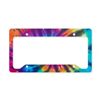 Bright Color Tie Dye License Plate Holder