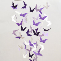 Lavender Butterfly Mobile, Girls Room Decor,Party Decor