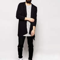 ASOS Longline Cardigan With Extreme Waterfall In Jersey