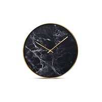 Structure Wall Clock by Cloudnola BLACK MARBLE
