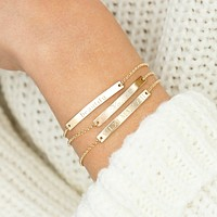 Thin Custom Bracelet (Gold/Rose Gold/Silver)