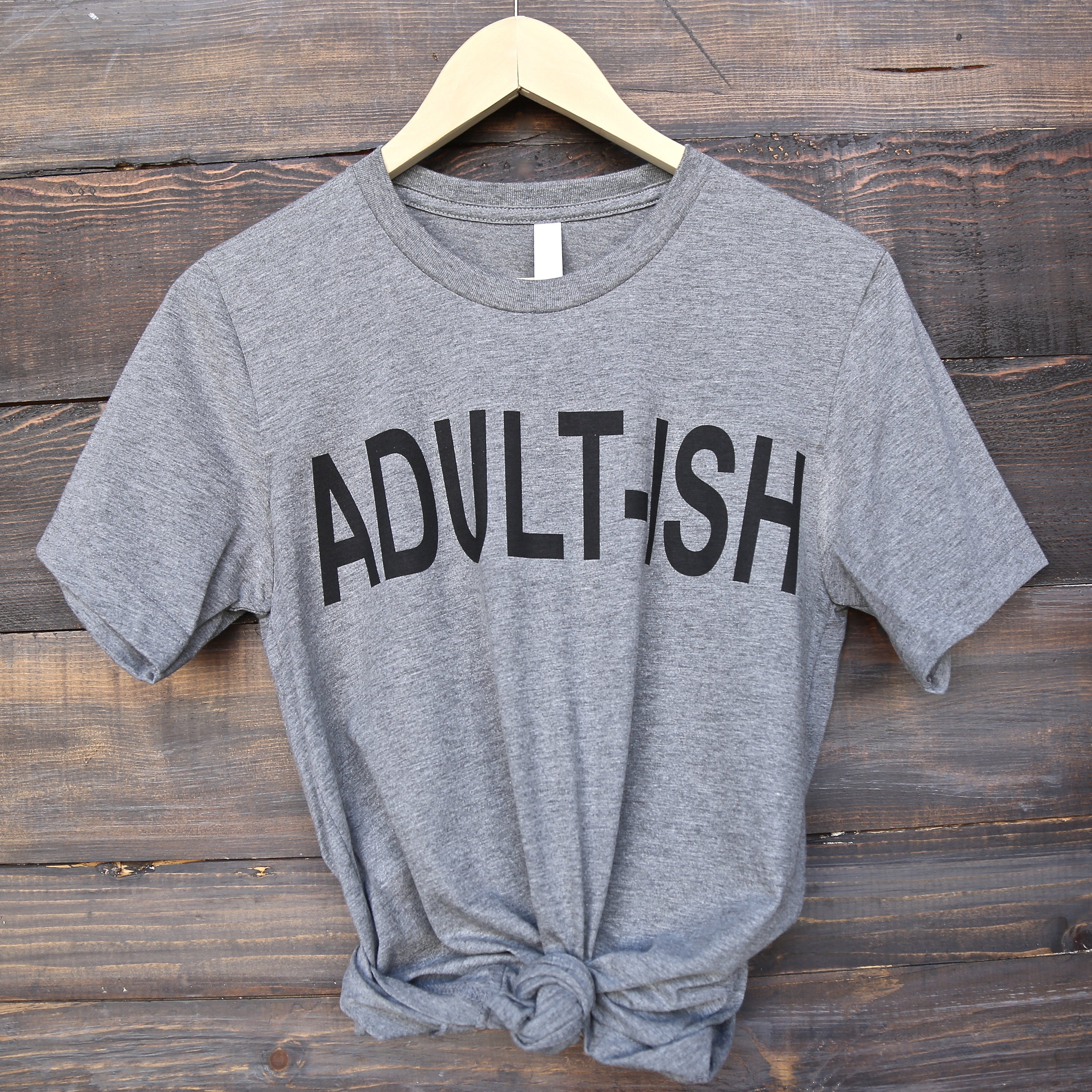 Image of Distracted - Adult-ish Unisex Graphic Tee in Grey