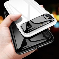 Mirror Tempered Glass Case For iPhone X 8 7 6 Matte Hard PC Cover 360 Full Protective Case For iPhone 8 7 6 Plus Phone Cases