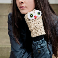 Handmade cute fingerless gloves with by BglorifiedBoutique on Etsy