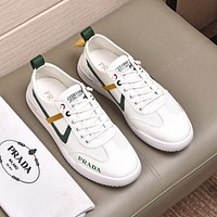 prada men fashion boots fashionable casual leather breathable sneakers running shoes 52