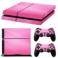 Durable Pink Decal Skin Decor Sticker for PS4 Playstation Controller Console Tool GAME ACCESSORY