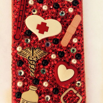 iphone cases samsung cases, iphone cell phone case, bling cell phone case, nurse cell phone case, bling cell case, nurses, custom cell phone