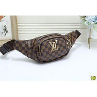 LV Louis Vuitton Fashion Women Men Leather Purse Waist Bag Single-Shoulder Bag Crossbody 1#