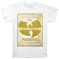 Wu Tang Clan Men's  Gold Chambers Logo T-shirt White