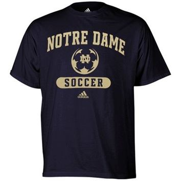 adidas Notre Dame Fighting Irish Sports Arch Soccer T-Shirt - Navy Blue