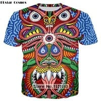 Trippy Sacred Geometric Animal T-Shirt - The DayTripper Collection