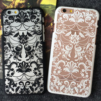 Original Hollow Out Pattern iPhone 5s 5se 6 6s Plus Case Best Solid Cover + Gift Box 406