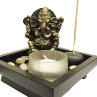 Ganesh statue Ganesh tea light holder Ganesh incense holder Yoga practice