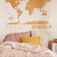 XL World Scratch Map - Urban Outfitters