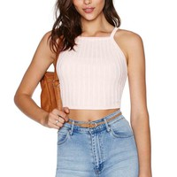 Knit Pick Crop Top - Pink