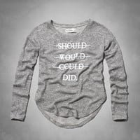 girly message graphic tee