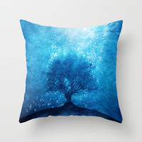 Songs from the sea. Throw Pillow by Viviana Gonzalez | Society6