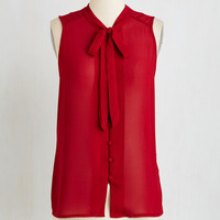 Mid-length Sleeveless Zephyr than Ever Top in Burgundy