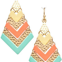 Multicolor Chevron Hinged Earrings from Monica's Closet Essentials