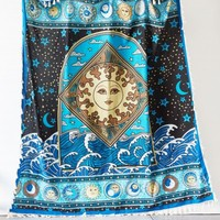 Sun Wave Tarot Tapestry with Fringe
