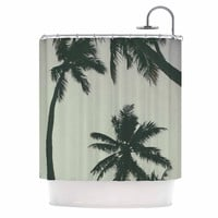 """Mary Carol Fitzgerald """"Rise Of Palms"""" Purple Photography Shower Curtain"""