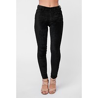 Round Up Velvet KanCan Jeans (Black)