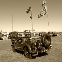 The Jeep Stretched Canvas by Robert Gipson