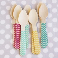 Shop Sweet Lulu - Bright Chevron Forks & Spoons