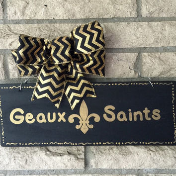 New Orleans Saints  Recycled Reclaimed Pallet Wood Sign