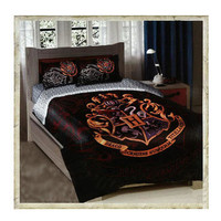 Hogwarts Crest Twin/Full Size Comforter Bedding Set |