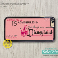 Disneyland ticket, iPhone 6 case, iPhone 6 Plus case, iPhone case, iPhone 5 case, iPhone 5S Case, Galaxy S5 S4 S3 Note 2 Note 3, A0040