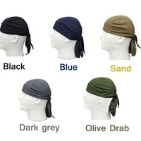 Breathable Quick Dry Head Scarf Pirate Costumes Hat Caps Pure Color for Men's Cycling Climbing Fishing Hiking  Outdoor Sports