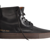 Common Projects Leather Training Boot (Black) - Mens