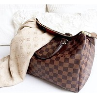 Louis Vuitton LV Fashion Women Shopping Handbag Leather Satchel Shoulder Bag Crossbody