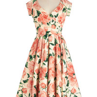 ModCloth Long Cap Sleeves A-line Layered Cupcakes Dress