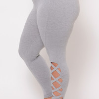 Plus Size Piyo Girl Leggings - Grey