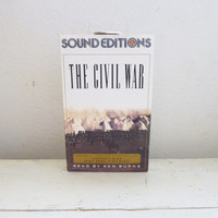 The Civil War Narrated by Ken Burns, cassette tapes, audio books, sound editions, American history, civil war history, educational, tape set