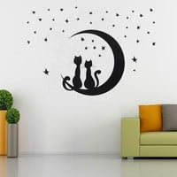 DIY Removable Star Cat Wall Sticker Art Decoration Decal Mural Home Room Decor = 5987836097
