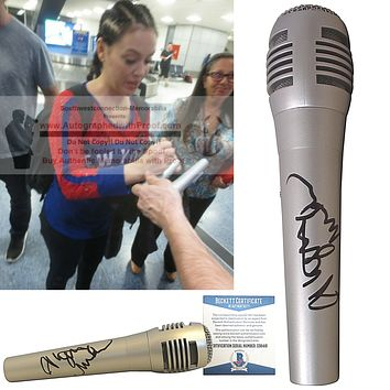 Alyssa Milano Autographed Pyle Microphone, Proof, Beckett BAS