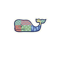 Patchwork Whale Sticker Pack (Set of 5)