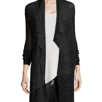 Shimmered Knit Draped Cardigan, Women's, Size:
