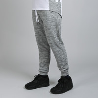 King Apparel - Perf Tracksuit Pants - White / Heather Grey
