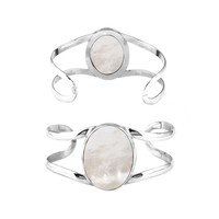 SB-128-MOP Sterling Silver Bracelet With Mother Of Pearl
