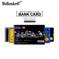 Hot sale 4GB/8GB/16GB/32GB/64GB Each country Bank Credit Card Shape USB Flash Drive Pen Drive Memory Stick best gifts