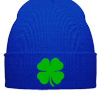 IRISH LEAF Bucket Hat, - Beanie Cuffed Knit Cap