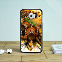 Attack On Titan Characters Action Samsung Galaxy S6 Edge Case Dewantary