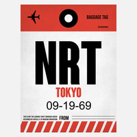 I liked this design on #Fab. NRT Tokyo Baggage Tag