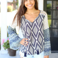Time of Your Life Top - Navy