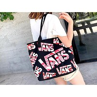 Vans 2019 new classic big logo Messenger bag shoulder Joker canvas Messenger bag Black
